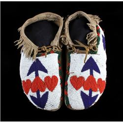 Blackfoot Fully Beaded Moccasins circa 1890-1900