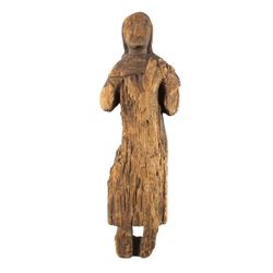 Northwest Coast Carved Wood Doll 18th-19th C.