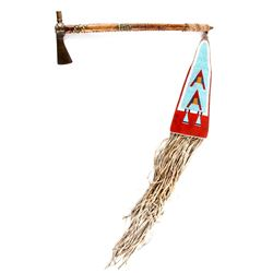 Crow Pipe Tomahawk w/ Beaded Drop c. 1860-1870