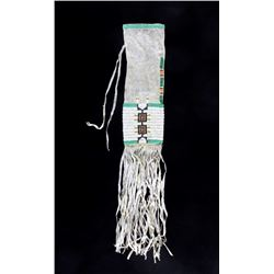 Arapaho Beaded Pipe Bag circa 1890-