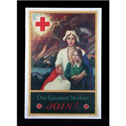 Original WWI American Red Cross Nurse Poster