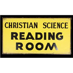 2-Sided Christian Science Reading Room Sign c1900-