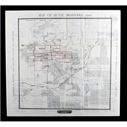 1900 Polk Directory Butte Montana Map