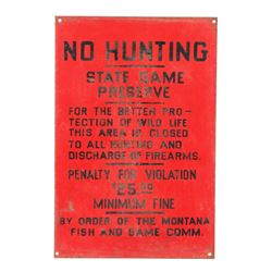 Original Montana Fish and Game Commission Sign