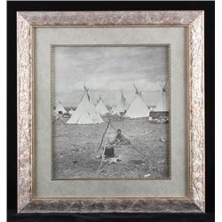 Early Blackfeet Indian Framed Photo Print