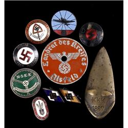 Original WW2 Era Nazi Party Pin Collection