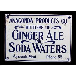 Anaconda Products Prohibition Era Tin Sign