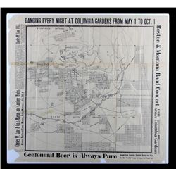 Early 1900's Butte Montana Map