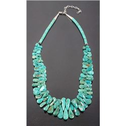 Navajo Turquoise Mountain Teardrop Nugget Necklace