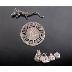 Three Sterling Silver Brooches