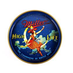 "Miller High Life 12"" 40's Miller Lady Beer Tray"