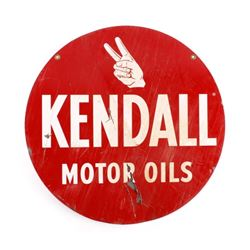 Kendall Motor Oils Double Sided Advertising Sign