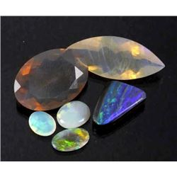 Collection of Faceted & Cabochon Australian Opals