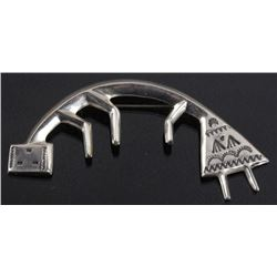 Navajo Florence Johnson Sterling Silver Yei Brooch