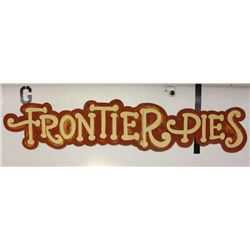 Hand Painted Frontier Pies Advertising Sign