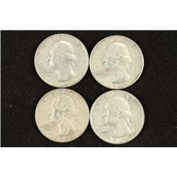 1961-D,62,63-D & 64-D WASHINGTON SILVER QUARTERS