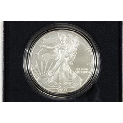 2007-W BURNISHED AMERICAN SILVER EAGLE UNC