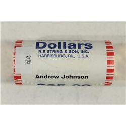 $25 ROLL OF 2011 ANDREW JOHNSON PRESIDENTIAL $'S