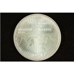 1976 CANADA SILVER $10 1976 MONTREAL OLYMPICS UNC