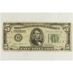 1928 $5 FRN REDEEMABLE IN GOLD ON DEMAND