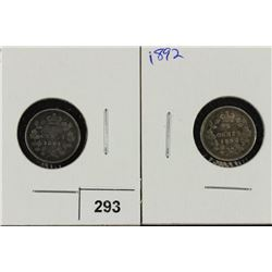 1891 & 1982 CANADA SILVER 5 CENTS