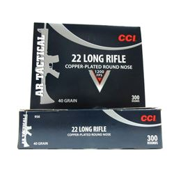 2 Boxes of 300 Rounds of CCI 22LR.