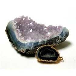 Amethyst Rock Specimen with Gold Filled Pendant