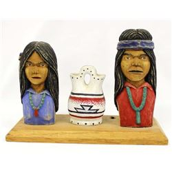 Native American Folk Art Carving by Emerson Begay
