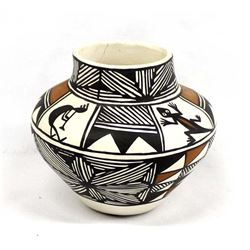 Native American Acoma Pottery Jar by M. Miller