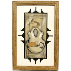 Original Framed Sand Painting by Herman Tyler, Jr