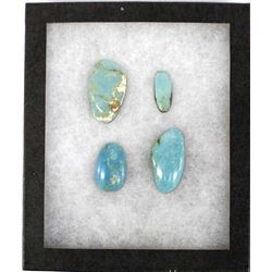 4 Sky Blue Polished Turquoise Cabochons