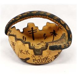 1990 Zuni Pottery Basket by Devin Howard