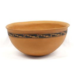 Large 1996 Taos Pueblo Pottery Bowl by Lujan-Hauer