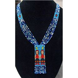 Vintage Plains Indian Loom Beaded Necklace