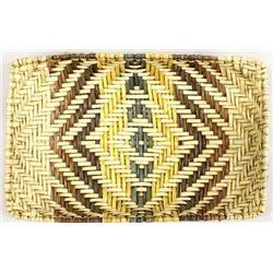 Native American Hopi Two Toned Basketry Tray