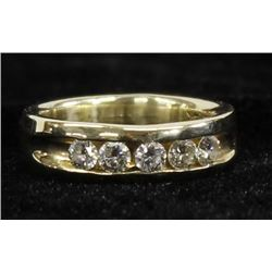 Stunning 14K Gold and Diamond Ring, Size 8
