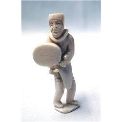 1998 Chinese Carved Ivory Drummer