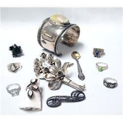 Collection of Estate Sterling Silver Jewelry