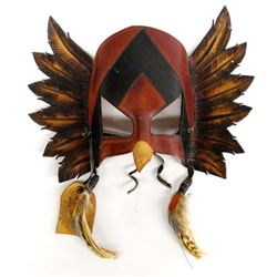 Leather Palak-wayo Red Tailed Hawk Mask