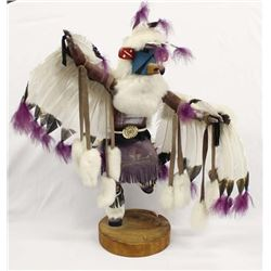 Large Navajo Eagle Kwahu Kachina by L. Yazzie