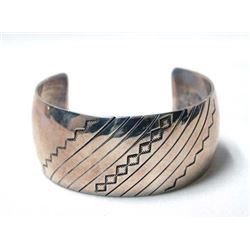 Native American Sterling Silver Bracelet by Lewis