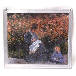 Stained Glass Art After Claude Monet