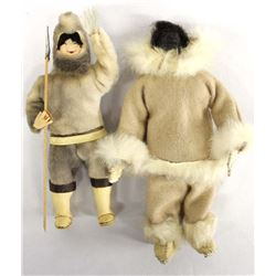 2 Native American Canadian Inuit Dolls