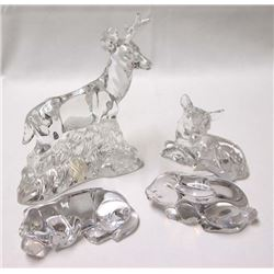 Collection of Princess House Lead Crystal Animals