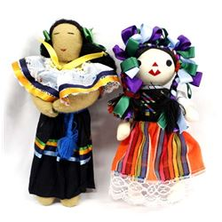 1 Seminole Doll and 1 Mexican Doll