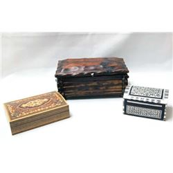 3 Ethnic Wooden Boxes