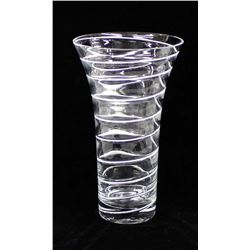 Vintage Estate Art Glass Spiral Vase