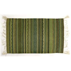 Mexican Fringed Textile Rug