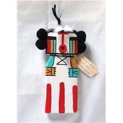 Hopi Farmer Girl Cradle Board Kachina by Puhuyesva