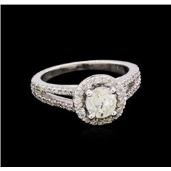 1.13 ctw Diamond Ring - 14KT White Gold